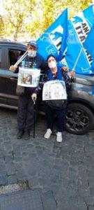 Franca attivista anziana fondatrice degli Animalisti Italiani con Carmine De Nuzzo del Direttivo dell'Associazione