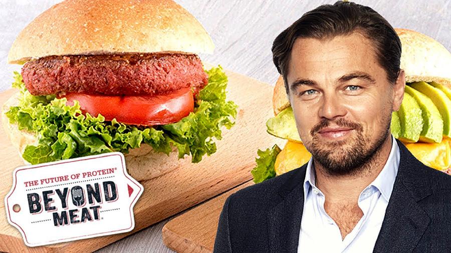 Leonardo Di Caprio burger Beyond Meat