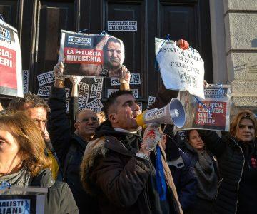 Manifestazione di protesta contro le pellicce a Milano